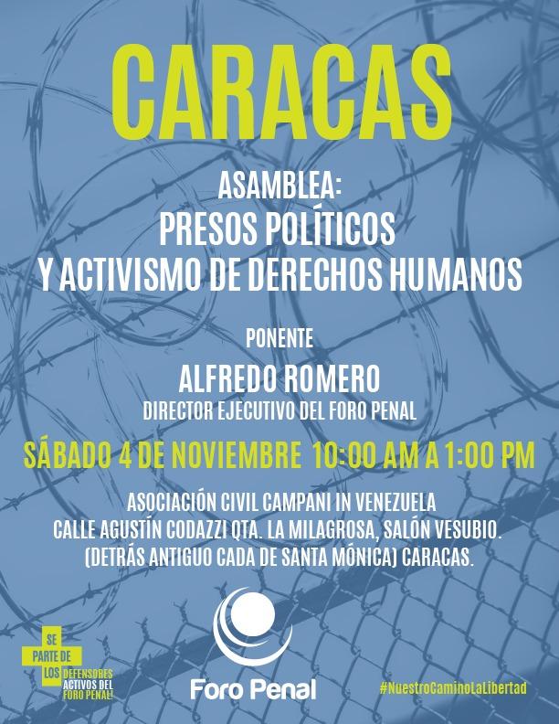 Presos Políticos y Activismo de Derechos Humanos, Distrito Capital