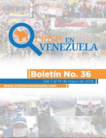 Crisis en Venezuela. Boletín No. 36- Del 7 al 14 de mayo de 2018
