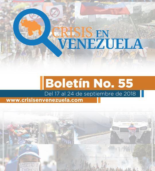 Crisis en Venezuela. Boletín No.55. Del 17 al 24 de Septiembre de 2018