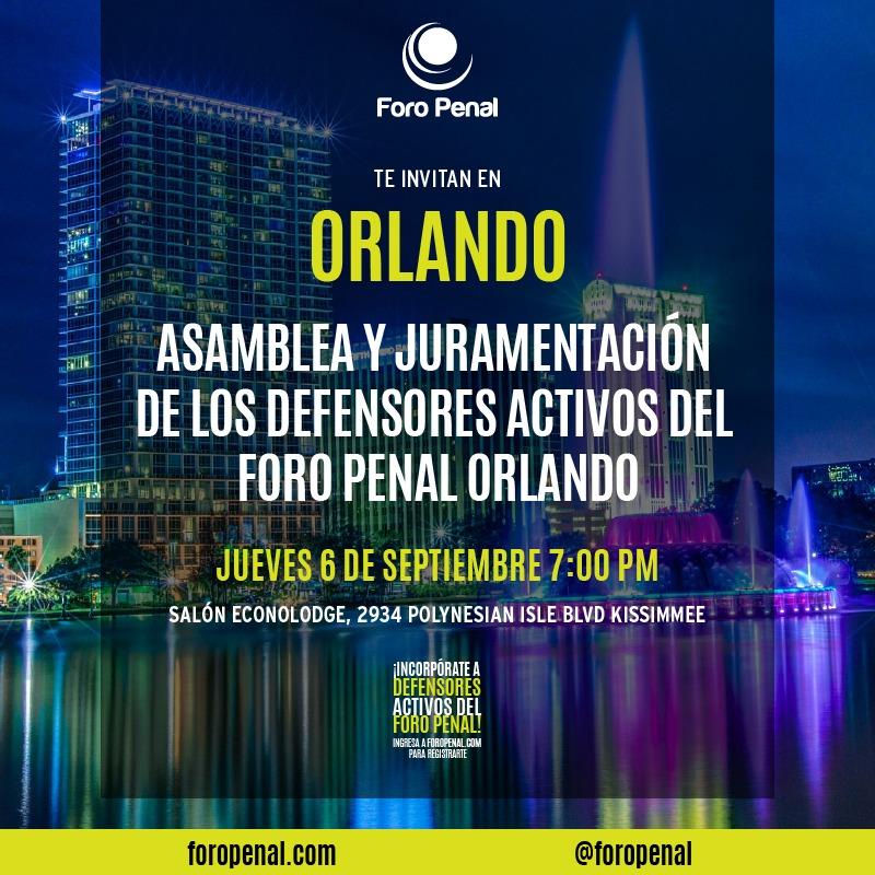 Constitución y juramentación equipo Foro Penal Orlando, Florida