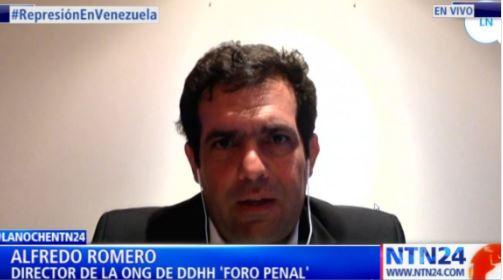 Represión en Venezuela. Alfredo Romero en NTN24 Programa La Noche