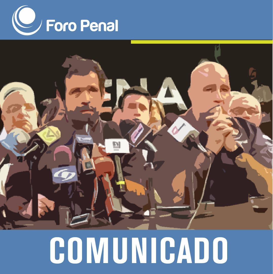 Posición de Foro Penal, Presos Políticos y sus Familiares ante la muerte de Erick Echegaray  y Situación de salud por COVID-19 en Venezuela