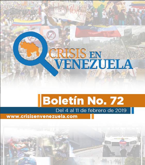 Crisis en Venezuela. Boletín No.72. Del 04 al 11 de Febrero de 2019