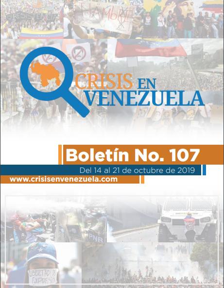 Crisis en Venezuela. Boletín No.107. Del 14 al 21 de Octubre