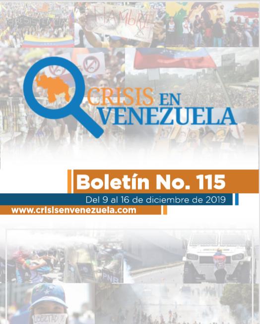 Crisis en Venezuela. Boletín No.115. Del 09 al 16 de Diciembre