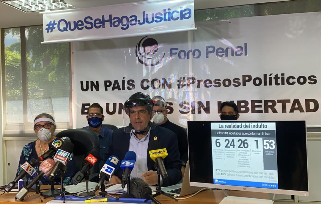 """Foro Penal: La realidad del """"indulto"""", 333 presos políticos siguen tras las rejas"""