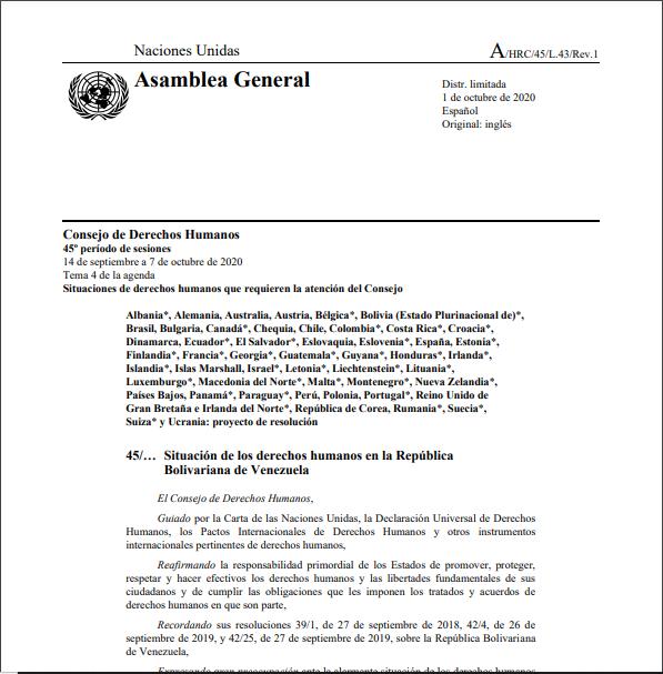 Prórroga del mandato de la Misión Internacional Independiente de Determinación de los Hechos